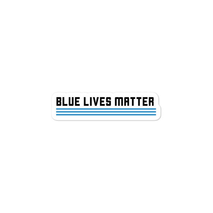 Blue Lives Graffiti Black stickers