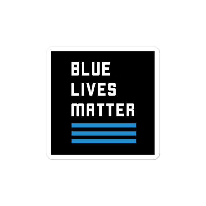 Blue Lives Matter stickers