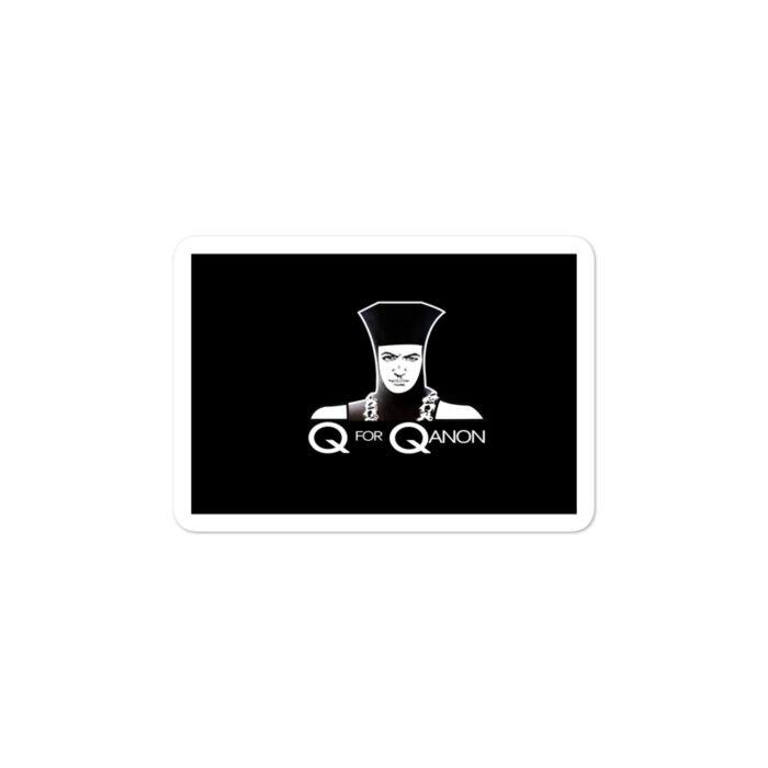 Q For Qanon Black stickers