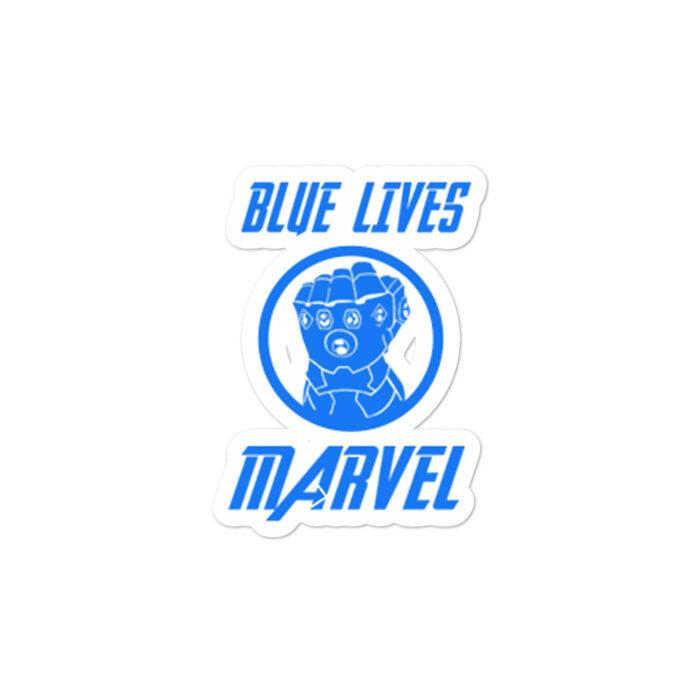 Blue Lives Marvel stickers