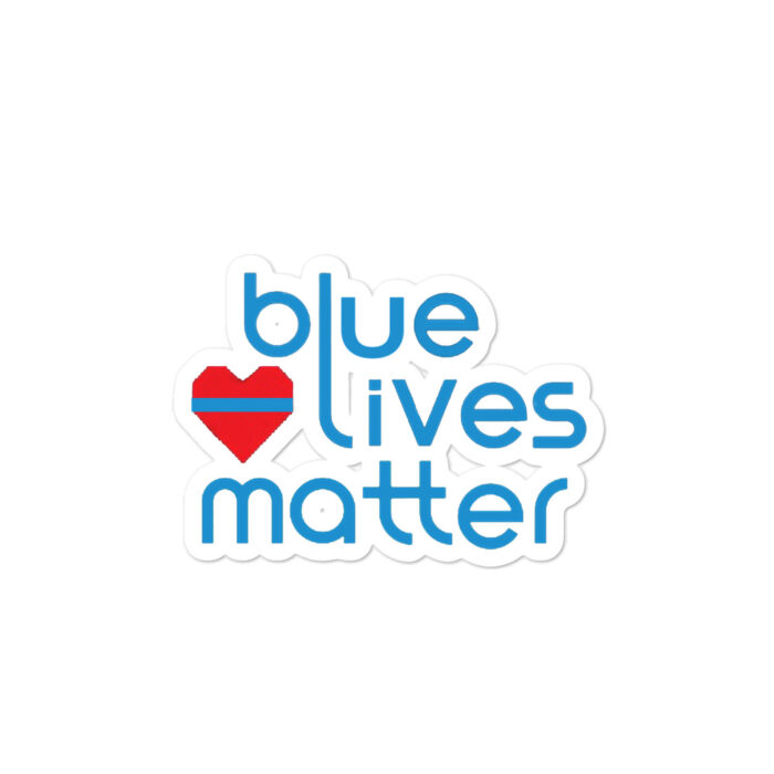 Blue Lives Heart stickers