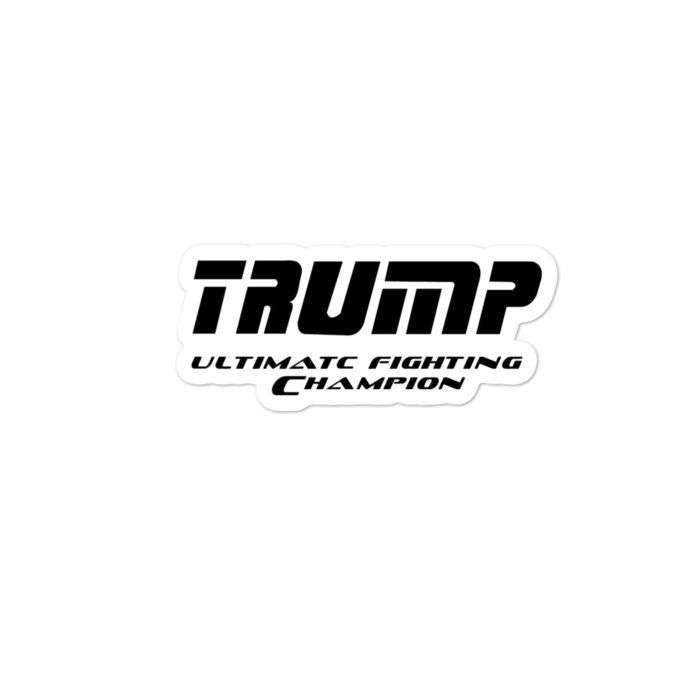 Trump UFC Black stickers