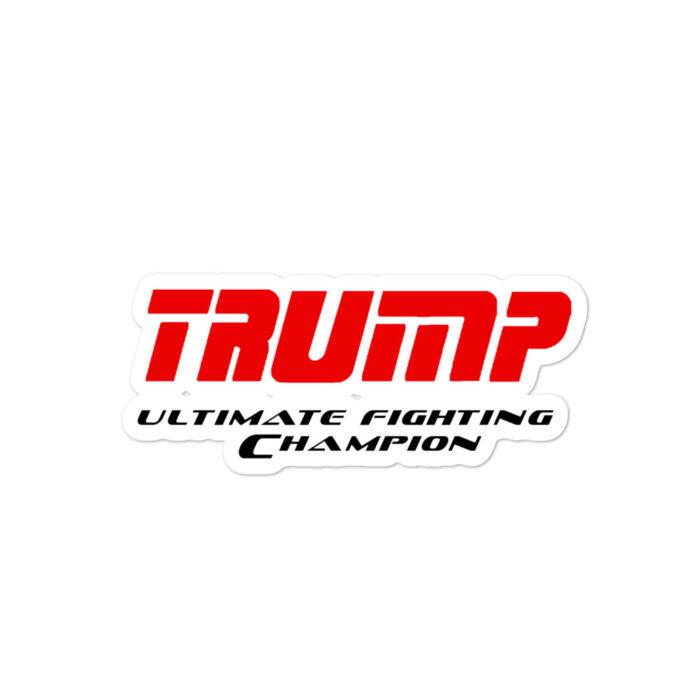 Trump UFC Red Black stickers