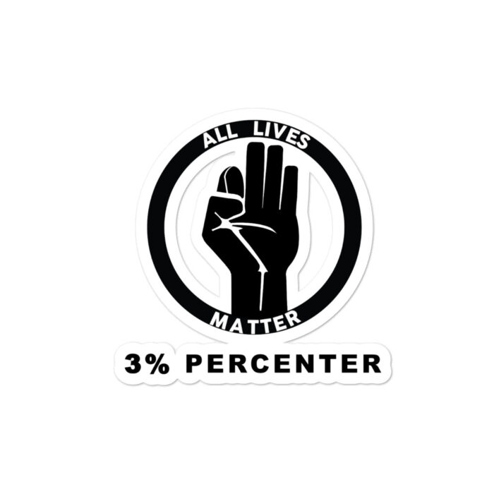 All Lives Plain 3% Percenter stickers