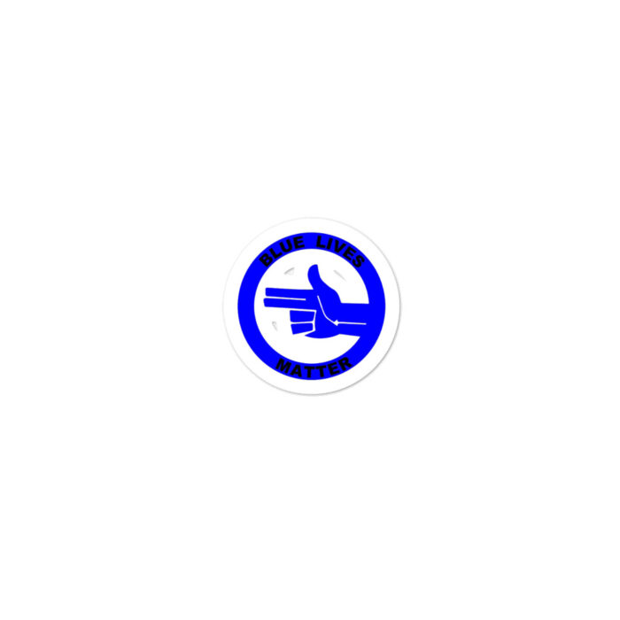All Blue Blue LIves Matter Left (Black) stickers