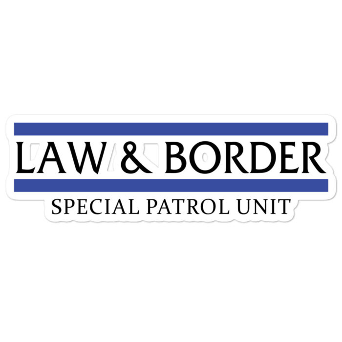 Law & Borders stickers