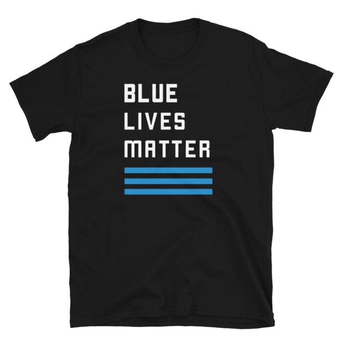 Blue Lives Matter 3 Stripe Stacked T-Shirt