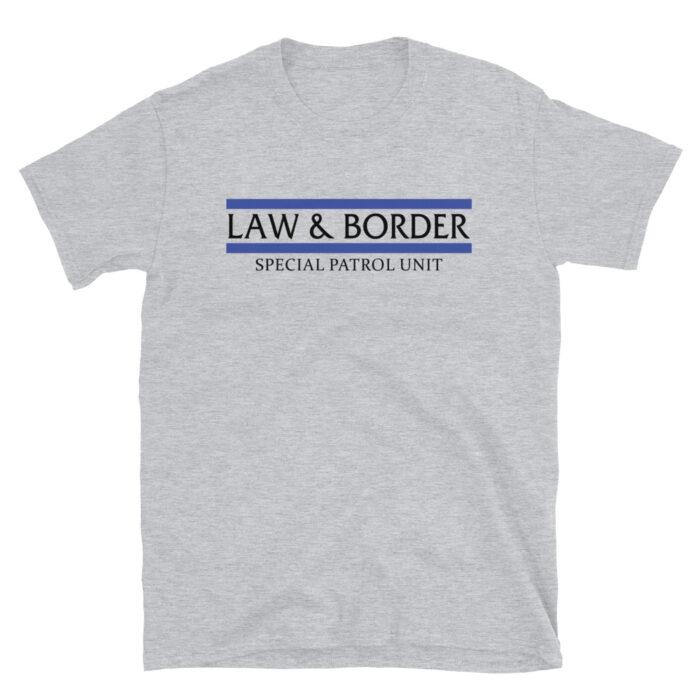 Law & Border Black T-Shirt