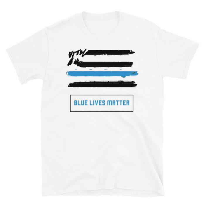 Blue Lives Graffiti Black T-Shirt