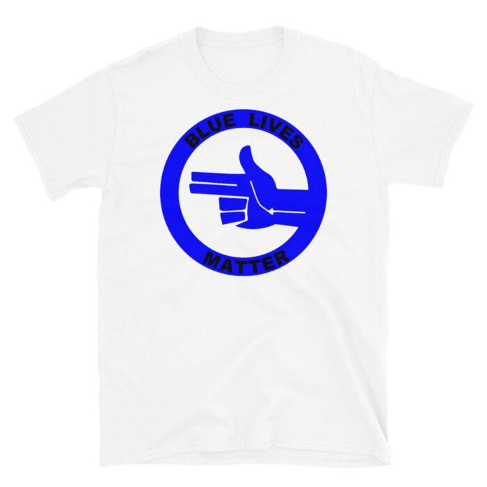 All Blue Blue LIves Matter Left (Black) T-Shirt