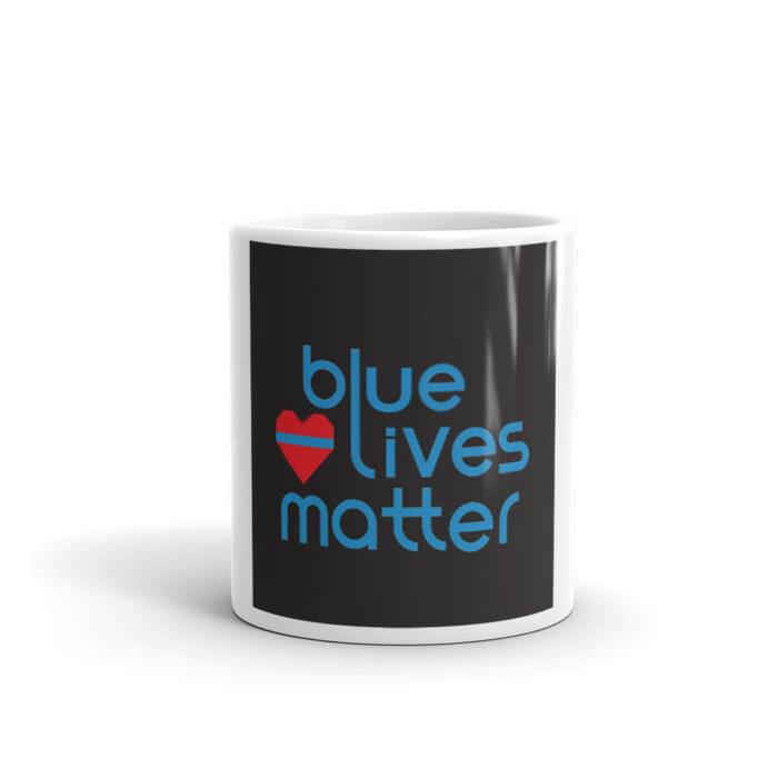 Blue Lives Heart Mug