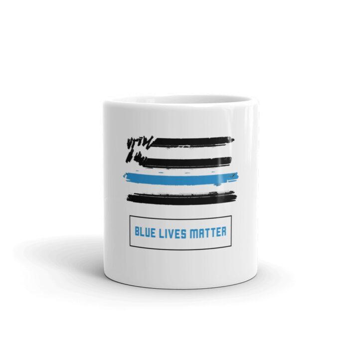 Blue Lives Graffiti Black Mug