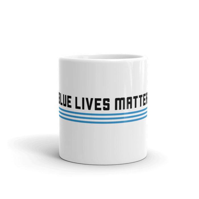 3 Stripe Horizontal Black Mug