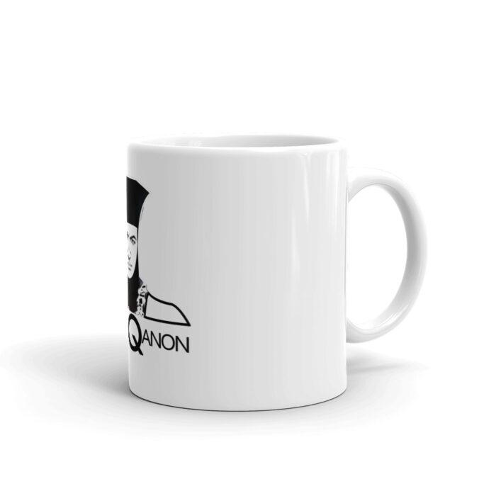 Q For Qanon Black Mug