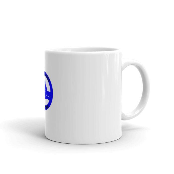 All Blue Blue LIves Matter Left (Black) Mug