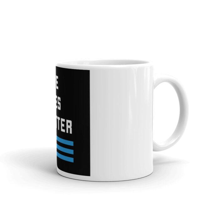 Blue Lives Matter 3 Stripe Stacked Mug